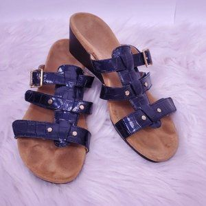 Vionic Radia sandal in blue and gold